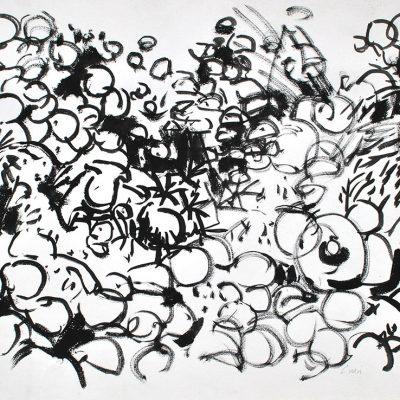 Semillas tinta 5, 2006. Tinta, 42 x 56 cm