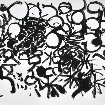 Semillas tinta 6, 2006. Tinta, 42 x 56 cm