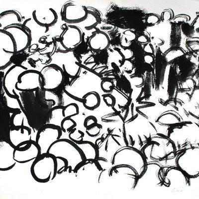 Semillas tinta 8, 2006. Tinta, 42 x 56 cm