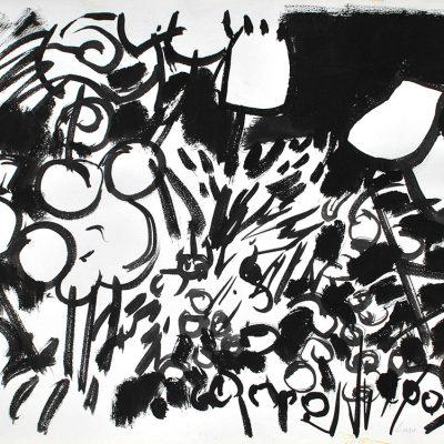 Semillas tinta 9, 2006. Tinta, 42 x 56 cm