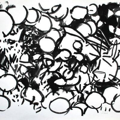 Semillas tinta 10, 2006. Tinta, 42 x 56 cm