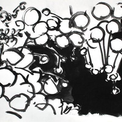 Semillas tinta 11, 2006. Tinta, 42 x 56 cm