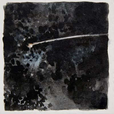 Estrella Fugaz, 2017. Acuarela, 10 x 10 cm