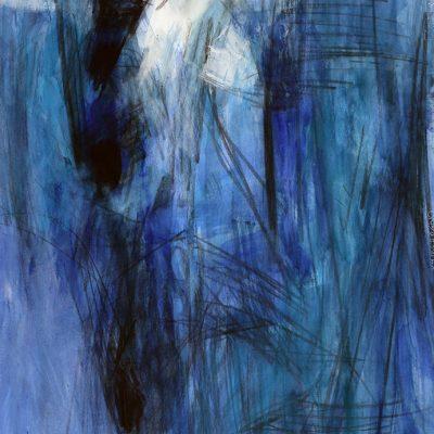 Bloque 11, 2009. Acuarela y temple de cera, 70 x 100 cm